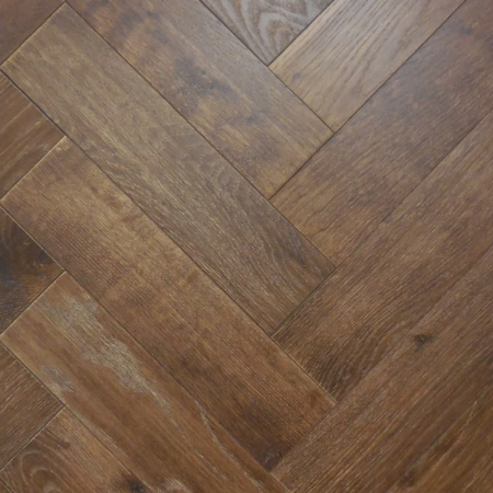 Rustic Oak Parquet Tannery Brown
