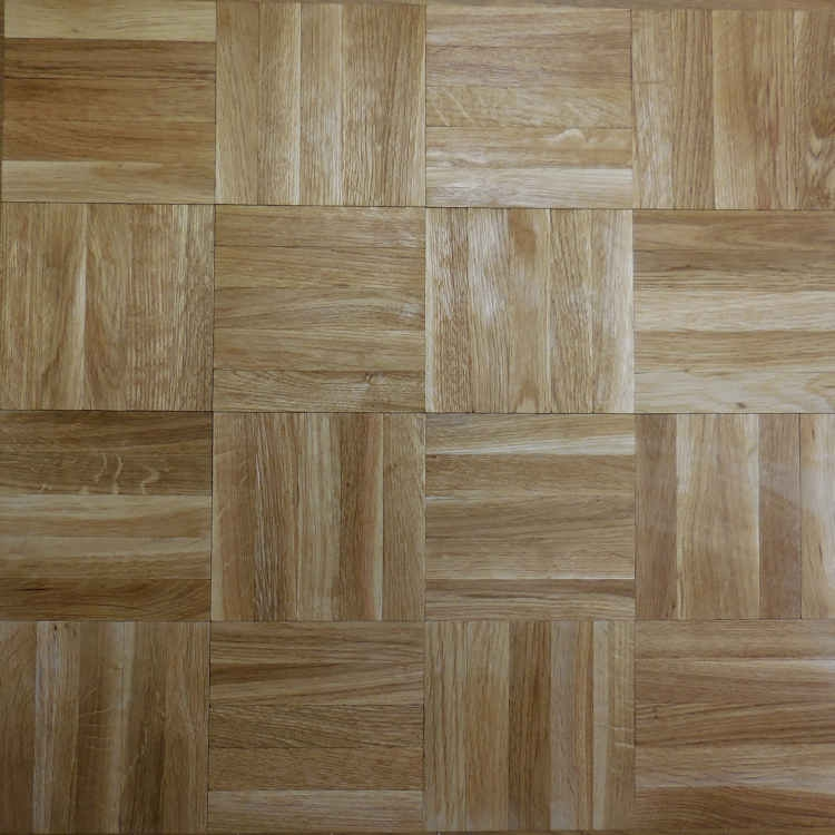 Oak Parquet Mosaic Panels Solid Natural Unfinished Five Finger Panels